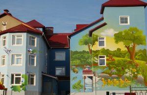 Рисунки на фасаде кременчуг полтава заказать от 2200 грн. м2