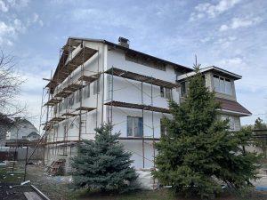Утепление фасада Полтава - пример работ нашей компании, утепленный дом в Полтаве 2020 год